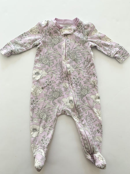 Baby Gap floral sleeper with zipper size 0-3 months