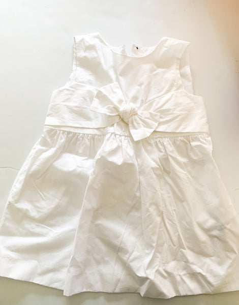 Zara white dress with bow (9-12 months)