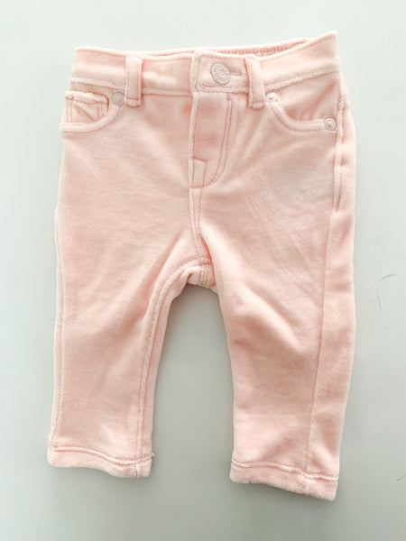 Baby Gap pink velour leggings size 3-6 months