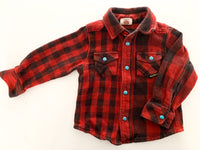 Bit'z kids buffalo plaid print button up shirt (12-18 months)