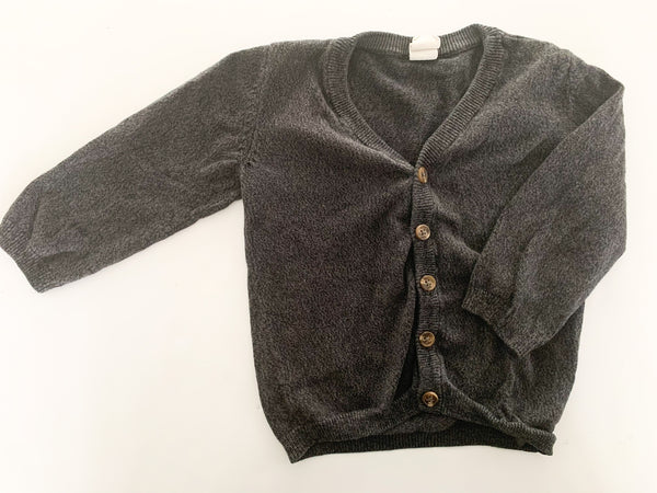 H&M dark grey cardigan size 12-18 months