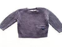 Zara cable knit blue sweater (6-9 months)