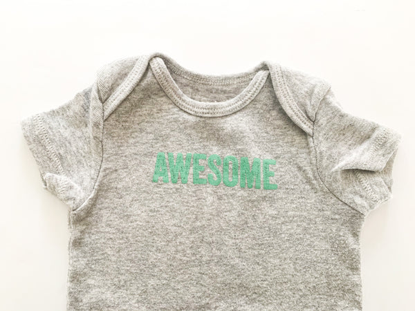Carters awesome grey onesie  (6 months)