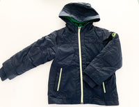 Benetton navy bomber rain jacket with hood size: XS (4/5Y)