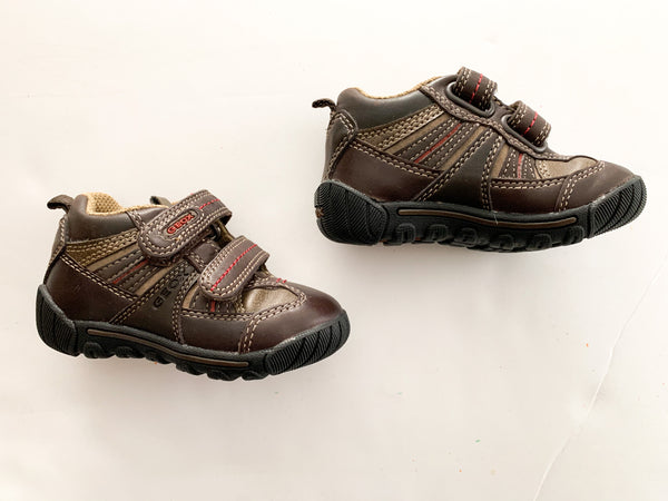 Geox brown Velcro runners (sz 5.5)
