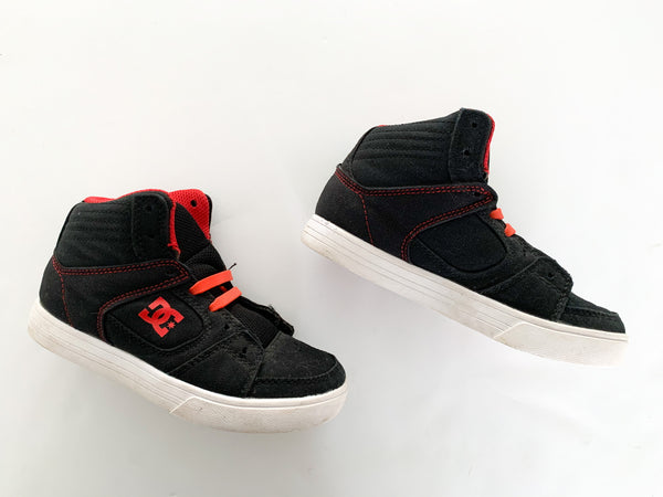 DC black & red youth sneakers size 13
