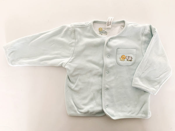 Baby Gap baby blue reversible cardigan with snaps size 6-12 months