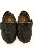 Toms glitter black Velcro shoes ( sz 2)