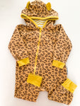 Purl lamb leopard print one piece zipper (18-24 months)
