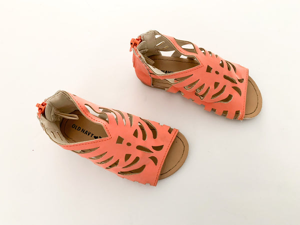 Old Navy coral sandals size 7