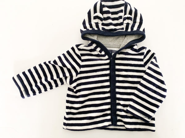 Baby Gap velour stripe reversible cardigan with snap buttons size 6-12 months