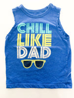 "OshKosh B'gosh blue ""chill like dad"" tank top size 2T"