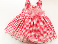 Gap pink plaid dress with eyelet embroidery (size 3)