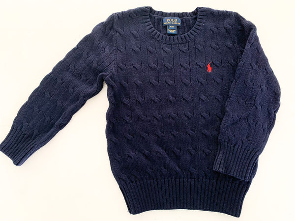Polo Ralph Lauren navy cable knit sweater size 4/4T