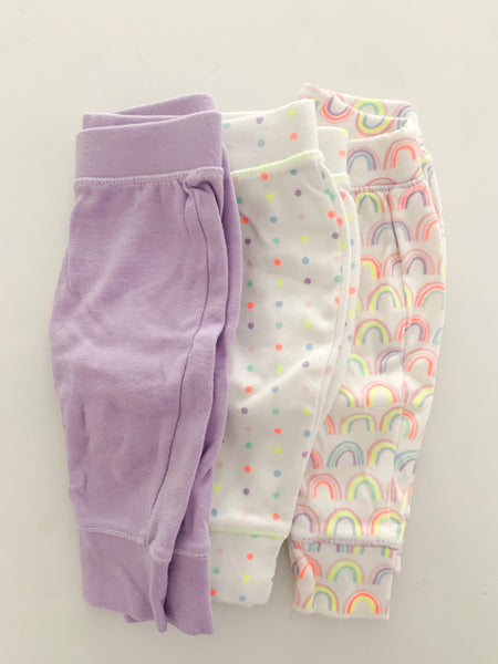 Cloud Island set of 3 leggings (0-3 months)