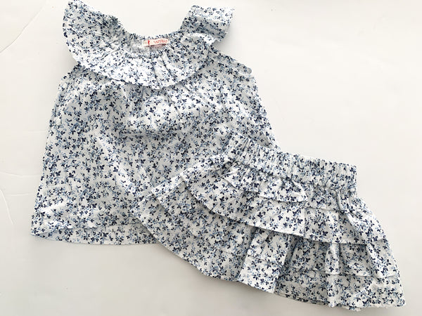 Lanidor kids paisley print skirt and shirt (size 2)