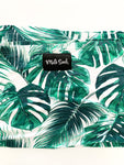 Milk Snob grey and teal palm leaves print nursing and carseat size one size