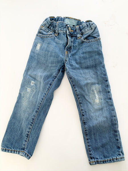 Baby Gap straight fit denim jeans size 3Y