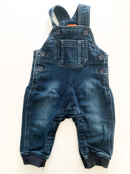 Joe fresh denim overalls   (6-12 months)
