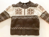 Gap Nordic knit zip up sweater (6-12 months)