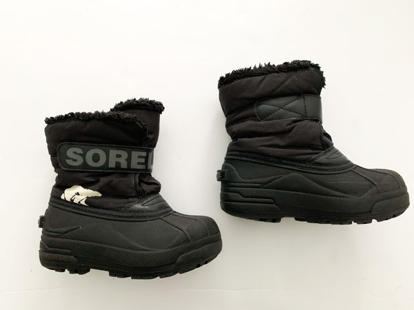 Sorel black winter boots (size 12)