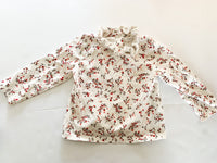 Next floral long sleeve shirt with ruffle collar size 9-12 months