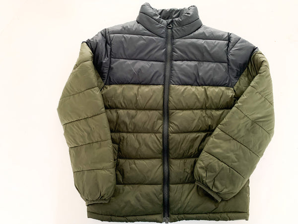 Joe Fresh army green & navy quilted jacket size S