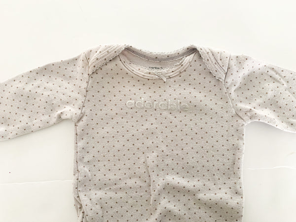 Carters adorable polka dot grey onesie  (3 months)