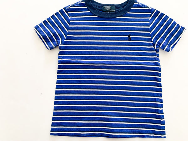 Polo by Ralph Lauren blue stripe tee shirt size 3/3T