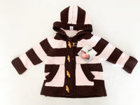 Beba bean brown/pink stripe sweater (3-6 months)
