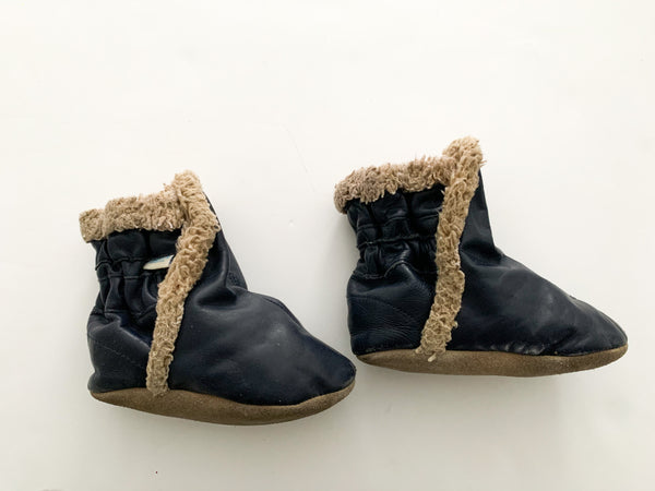 Robeez navy shearling boots (18-24 months)