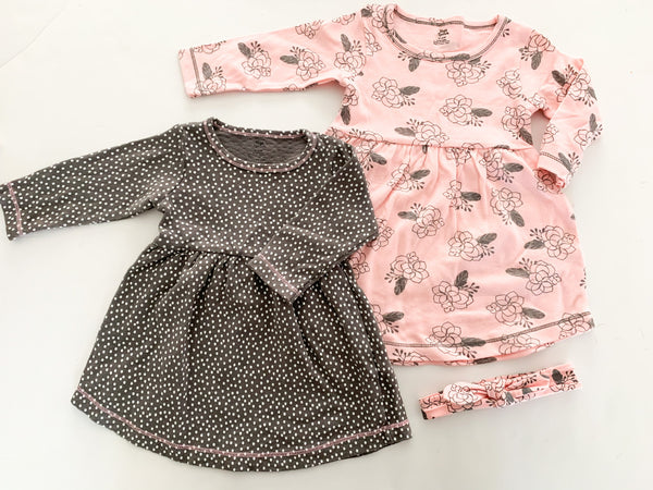 Yoga Sprouts 2 dress set size 9-12 months