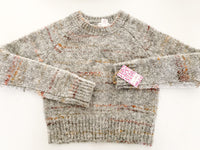 Shrinking Violet soft grey sweater size M (10-12Y)