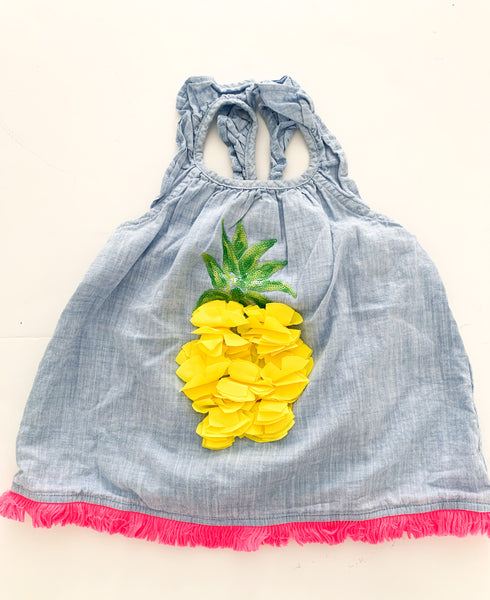 Mud pie pineapple tank shirt  (size 2)