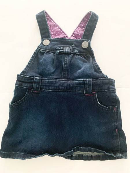Joe Fresh denim overall dress with matching bloomers size 6-12 months