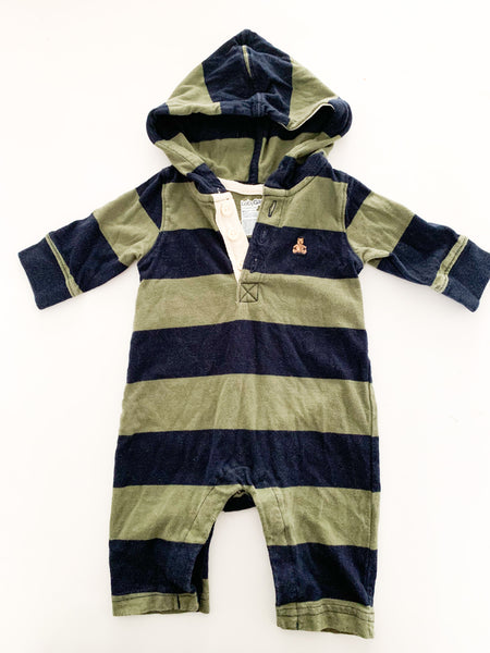 Gap stripe blue and green one piece (0-3 months)