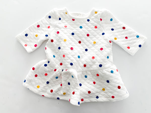 Gap polka dot dress or sweater with peplum bottom (0-3 months)