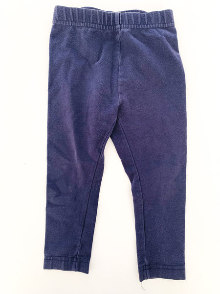 Hanna Andersson navy leggings (size 80)