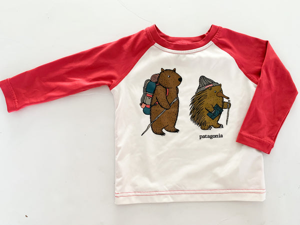 Patagonia Animal capilene cool daily  LS shirt (6-12 months)