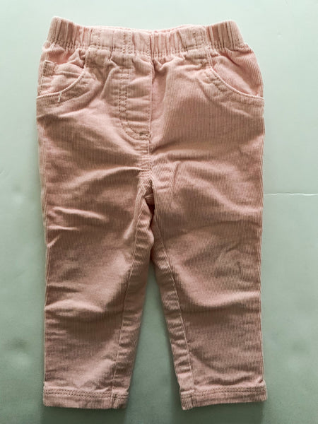 Carters pink cord pants (12 months)