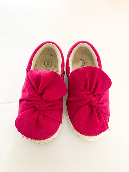 Cat & Jack purple/fuschia faux suede slip on shoes size: 5