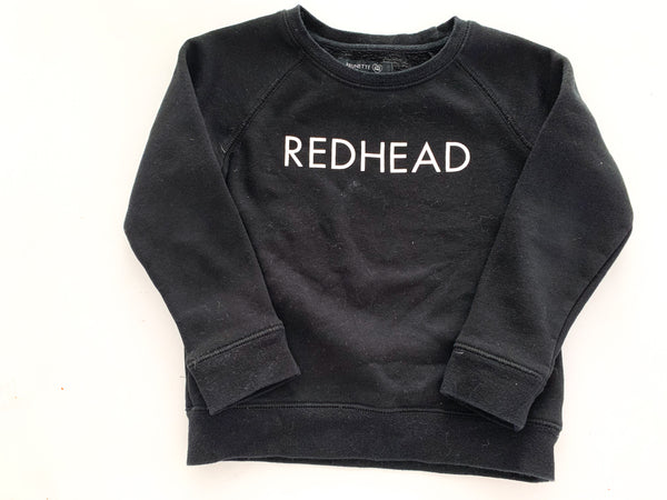 Brunette the label redhead black pullover (size 4/5)