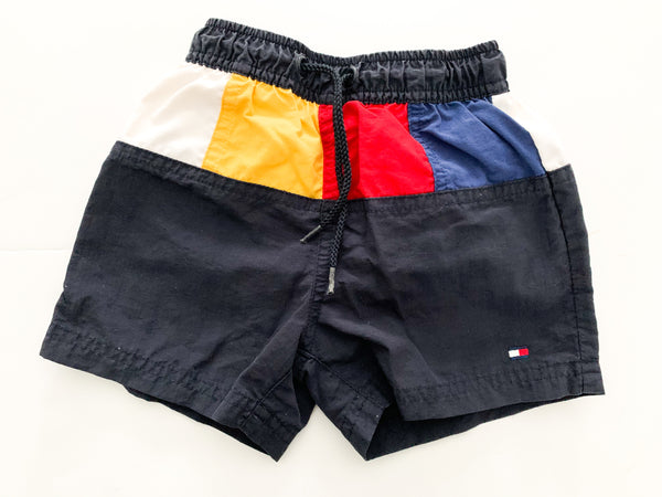 Tommy hilifiger navy colorblock swimming shorts (6-12 months)