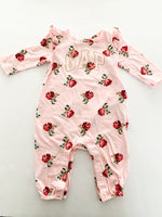 Baby Gap pink floral romper with Gap logo size 3-6 months
