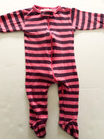 Sweet peanut Vancouver purple and pink stripe zipper sleeper  (6-12 months)