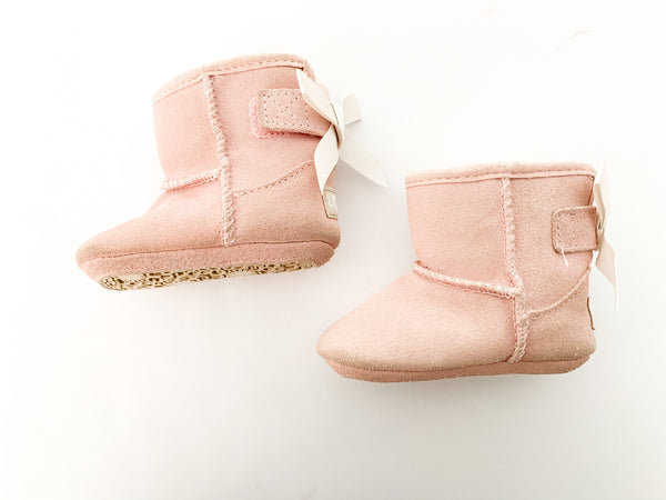 Ugg pink booties with bows size: 0/1 USA