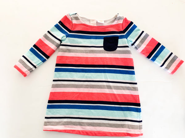 Gymboree multi colored stripe sweater dress (18-24 months)