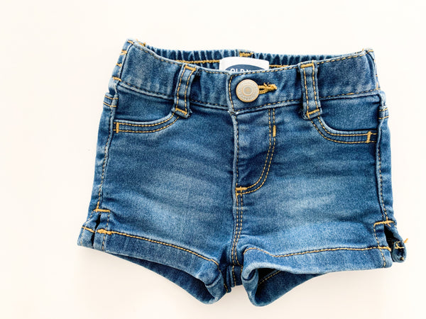 Old navy denim shorts  (0-3 months)