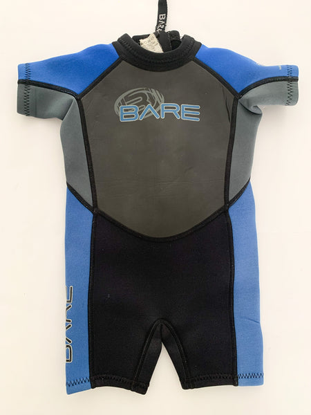Bare classic wetsuit size 2Y