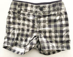 Gap plaid floral grey shorts (3-6 months)